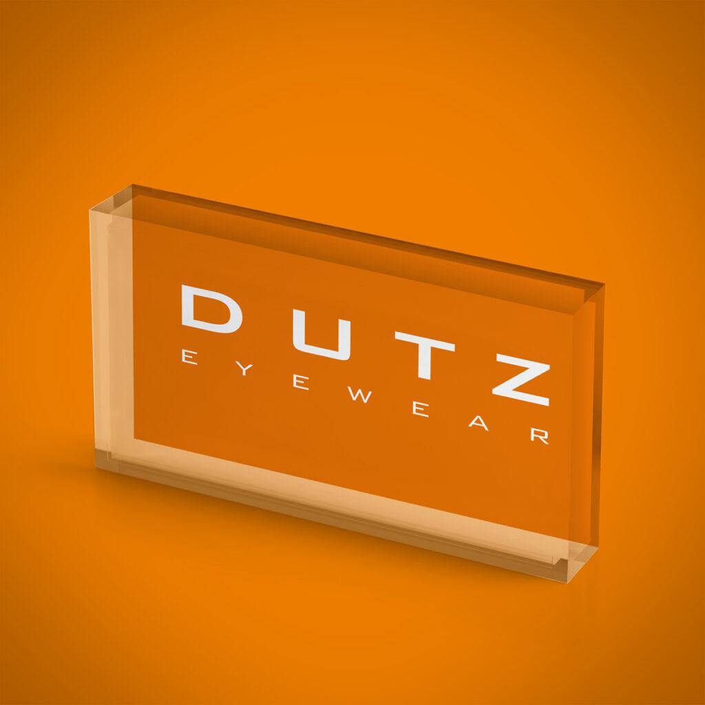 Dutz logo block orange