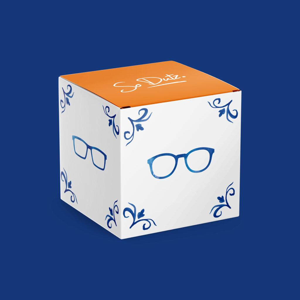 Dutz cube Delft blue
